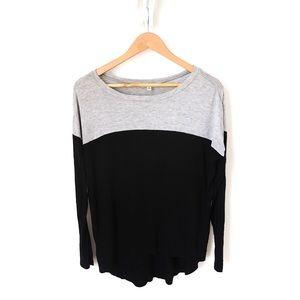 Tops - Colourblock Long Sleeve Shirt